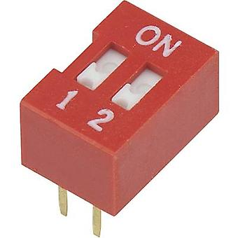 DIP switch Number of pins 2 Slide-type TRU COMPONENTS DSR-02