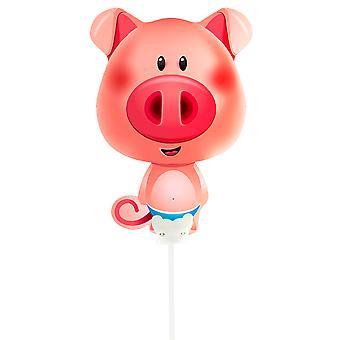 Foil balloon with rod pig pig pig pig