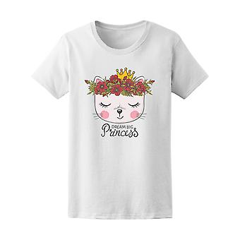 Floral Wreath Crown Princess Cat Tee - Image by Shutterstock