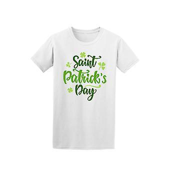Pyhän Patrickin päivä vihreä kursiivilla lainaus Tee - kuva: Shutterstock