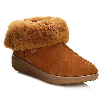 FitFlop Womens Chestnut Mukluk Shorty II Boots
