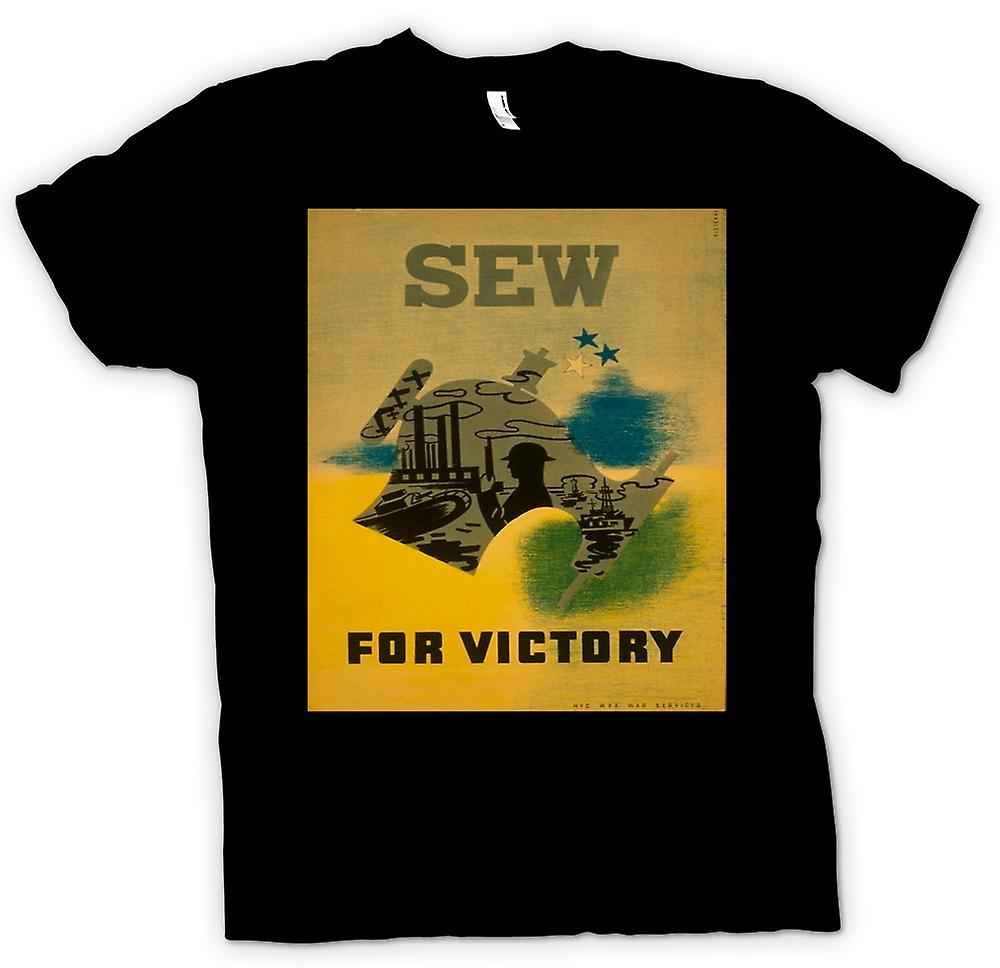 Mens T-shirt - Sew For Victory - Vintage War