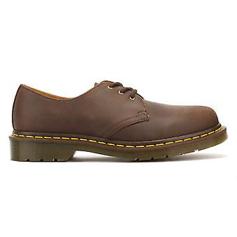Dr. Martens 1461 Crazy Horse Gaucho Brown Leather Shoes