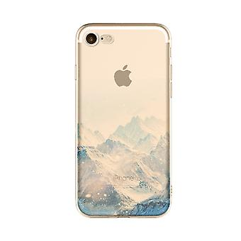 Mountain-Transparent TPU shell for iPhone (7)
