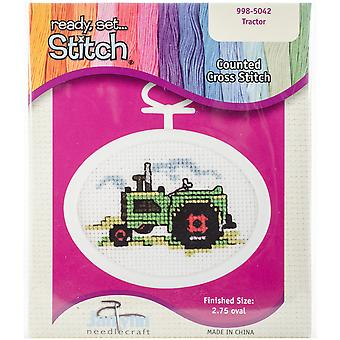 Tractor Mini Counted Cross Stitch Kit-2.75