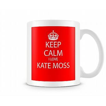 Blijf kalm Ik houd van Kate Moss Gedrukte Mok