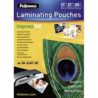 Laminate sheet Fellowes A4 100 micron glossy 100 pc(s)
