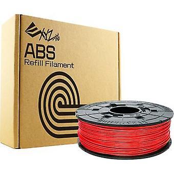 Filament XYZprinting ABS plastic 1.75 mm Red 600 g Refill