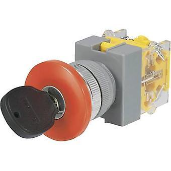 TRU COMPONENTS Y090-A-11YM/23 Key switch 250 V AC 5 A 1 x Off/(On) 1 x 90 ° 1 pc(s)