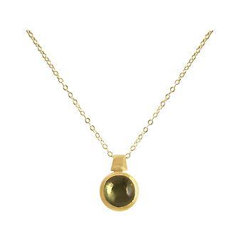 Gemshine - ladies - necklace - 925 Silver - gold plated - lemon Quartz - Yellow - 10 mm