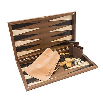 The Dal Negro Walnut Deluxe Backgammon Set