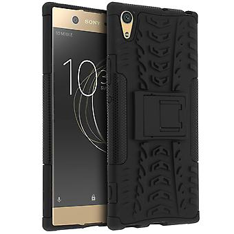 Shockproof Stand case, Backcover for Sony Xperia XA1 Ultra & Kickstand - Black