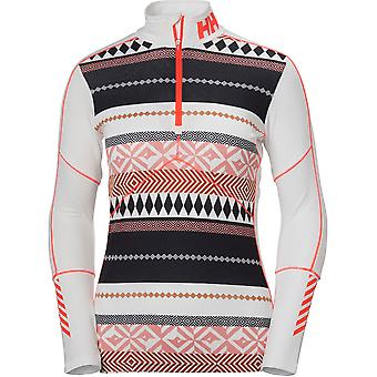 Helly Hansen donna/Womens Lifa attivo grafico Mezza Zip Baselayer Top