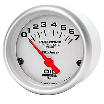 Auto Meter ATM4327-M Ultra-Lite Electric Oil Pressure Gauge