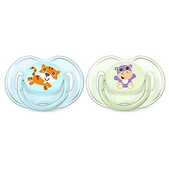 Avent Orthodontic Pacifiers Classic Silicone 2 pcs
