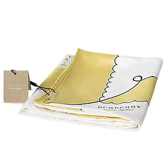 Burberry London Print Silk Square Scarf | Bright Yellow