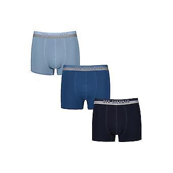 Tronco de Ben Sherman ropa interior hombres Pack 3 Boxer Shorts azul marino Wilton