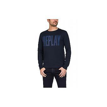 Reproducción impresa Logo manga larga M35952660576 universal invierno los hombres t-shirt
