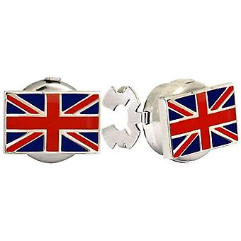 David Van Hagen Union Jack Button Covers - Blue/Red/White