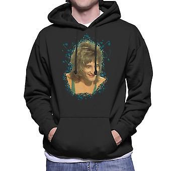 TV Times Rod Stewart Sparkly Vest Men's Hooded Sweatshirt