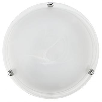 Eglo Salome Flush Alabaster szkło lampa sufitowa, 300mm