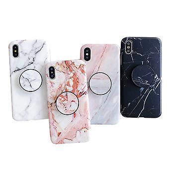 Marble Case With Phone Holder - iPhone XR