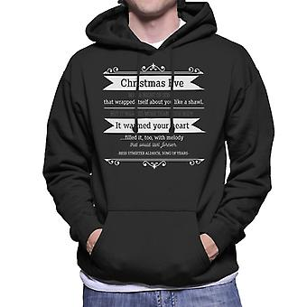 Christmas Eve Quote Song Of Years Quote Men's Hooded Sweatshirt