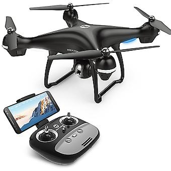 Holy Stone HS100 FPV RC Drone with Camera Live Video and GPS Return Home Quadcopter with Adjustable Wide-Angle 720P HD WIFI Camera