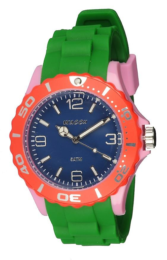 Waooh - Montre MC42 Multicolore rose bleu & rouge
