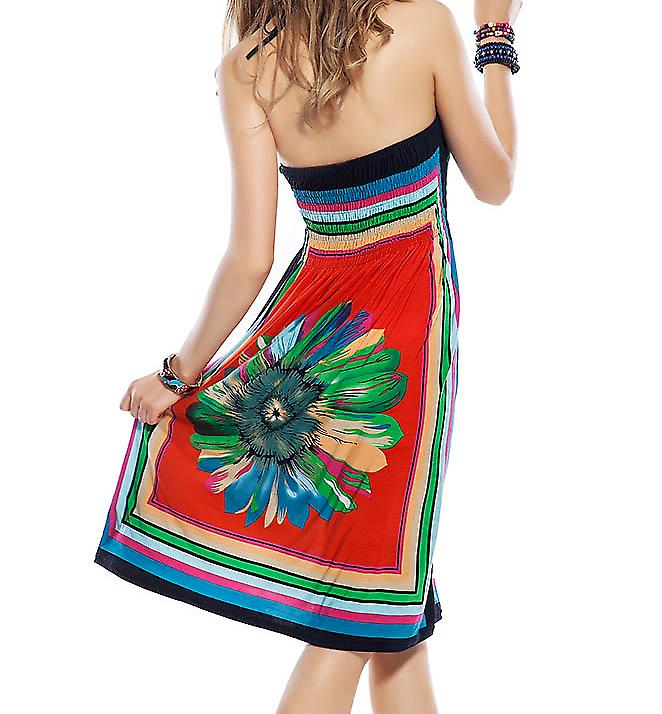 Waooh - Fashion - Dress printed beach flower