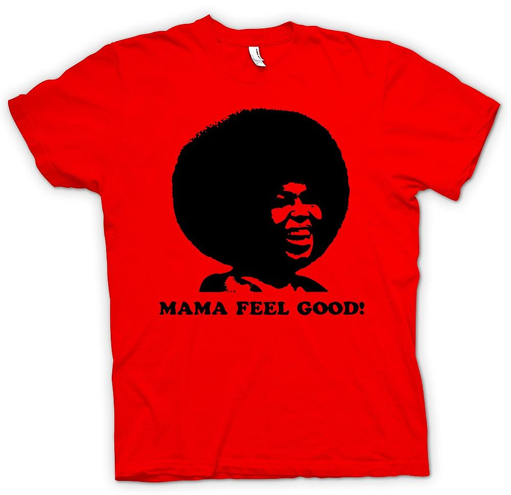 Heren T-shirt - Mama Feel Good - 70s - Soul Afro