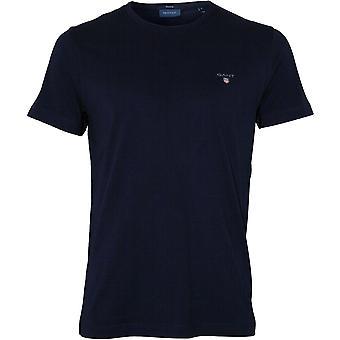 Gant Original Solid Crew-Neck T-Shirt, Evening Blue
