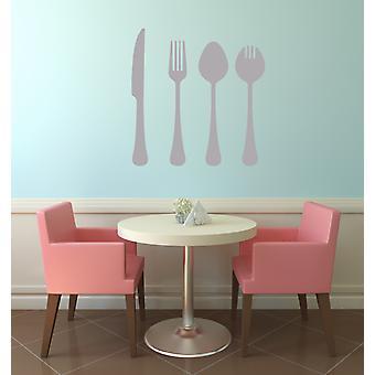 Cutlery Knife Fork Spoon Wall Art Vinyl Wall Sticker