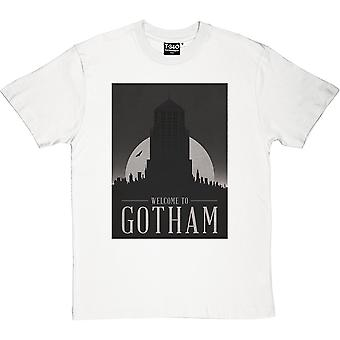 Gotham City Travel Poster Men's T-Shirt