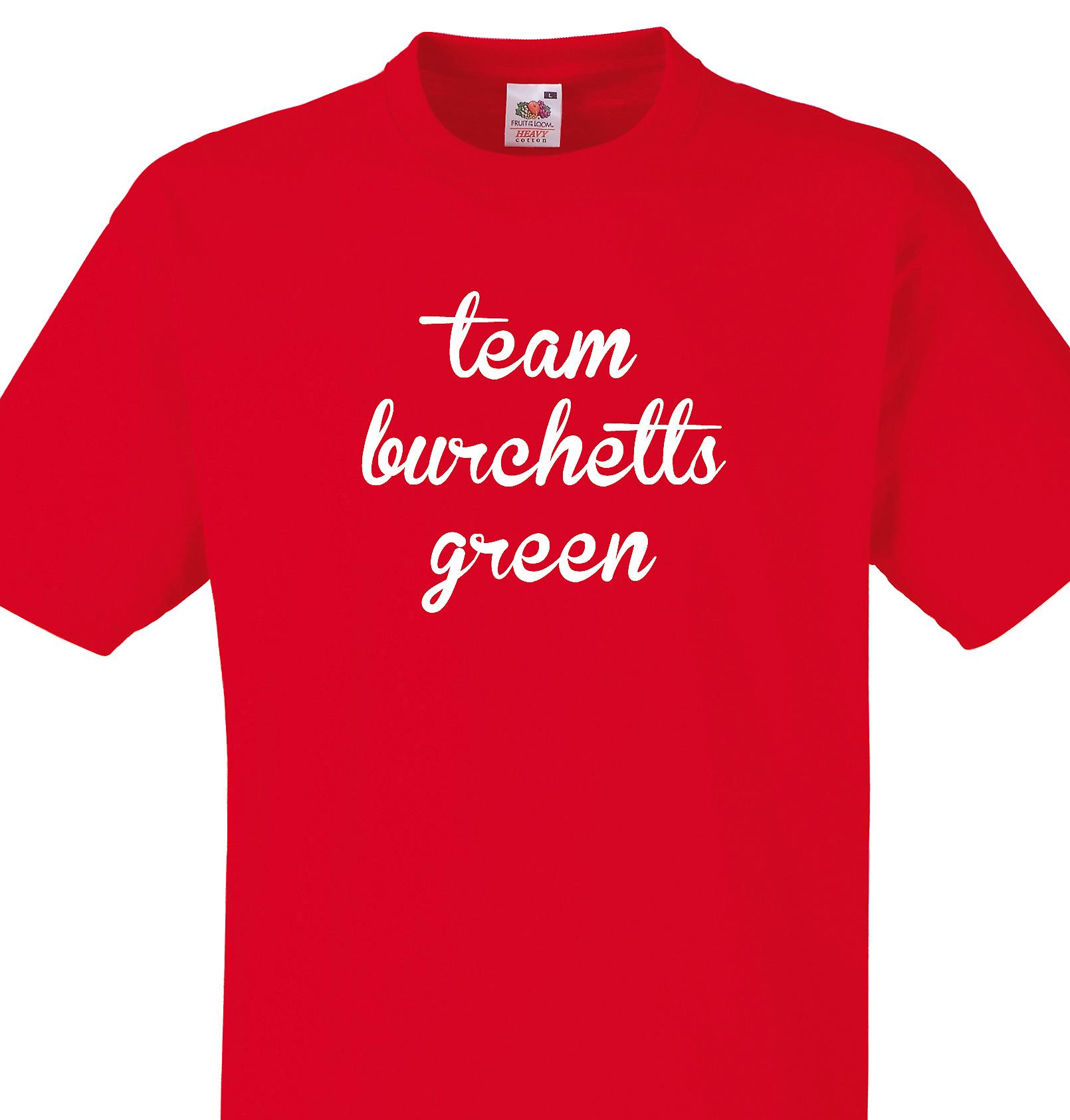 Team Burchetts green Red T shirt