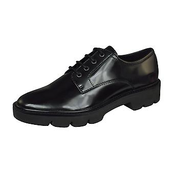 Geox D Quinlynn C Womens Lace Up Shoes - Black