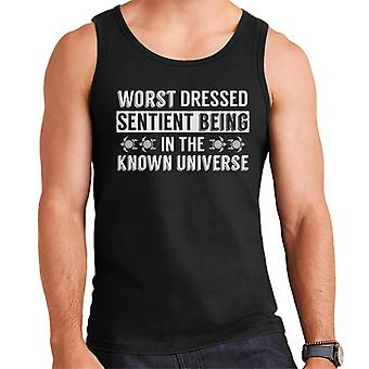Worst Dressed Sentient Being Hitchhikers Guide To The Galaxy Quote Men's Vest