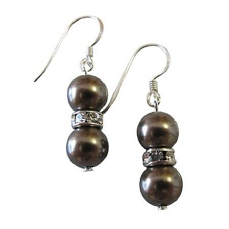 Wedding Pearls Earrings Brown Pearls Breathtaking