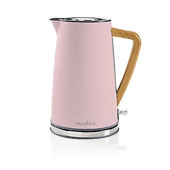 NEDIS KAWK510EPK Wasserkocher 1, 7 l 2200W Softtouch-Pink