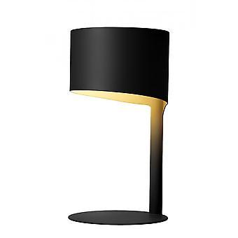 لوسيدي كنولي الحديثة جولة مصباح طاولة سوداء معدنية