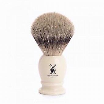 Muhle Silvertip Ivory Badger Hair Brush (Large)