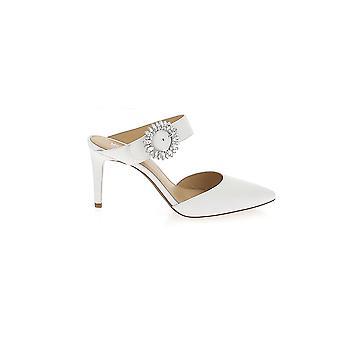 Michael Kors White Leather Slippers