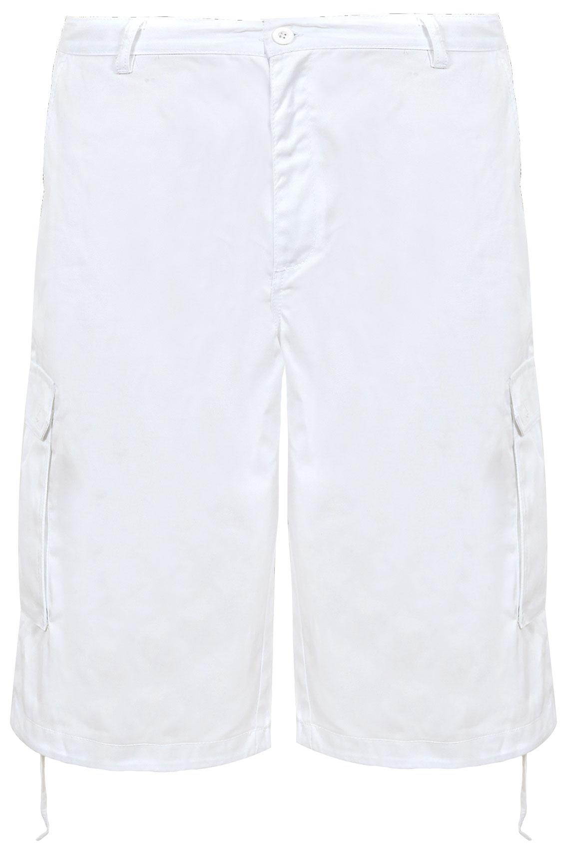 NOIZ White Cotton Cargo Shorts With Pockets