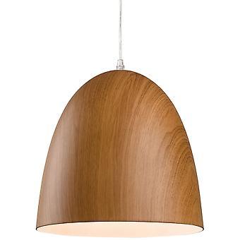 Firstlight-1 ljus tak hänge brunt trä-3442