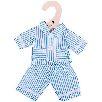Bigjigs Toys Blue Striped Pyjamas (28cm) Clothing Outfit Dress Up