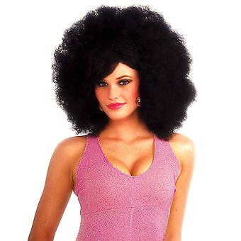 Deluxe Pop Black Afro Fro 1960s 70s 80s Disco Men Women Costume Wig