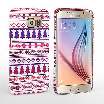 Caseflex Samsung Galaxy S6 Christmas Tree Hard Case - Pink and Purple