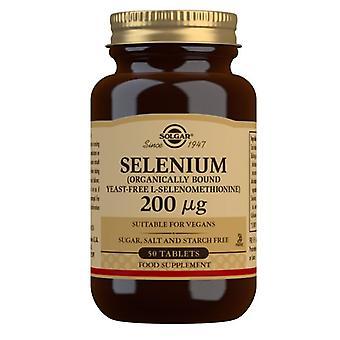 Solgar Selenium 200ug (Yeast Free) Tabs 50 (2556)