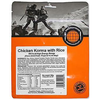 Expedition Foods geen kleur kip korma met rijst