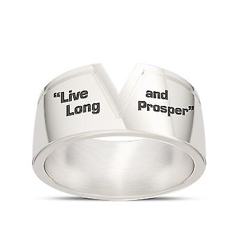 Star Trek Live Long And Prosper Gents Ring In Sterling Silver